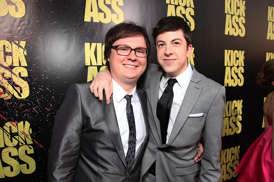 Kick Ass LA Premiere 2010 Christopher Mintz Plasse Clark Duke