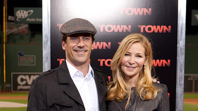 The Town Boston Premiere 2010 Jon Hamm Jennifer Westfeldt