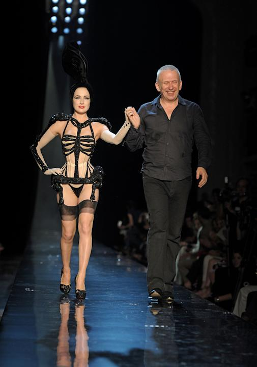 Dita Von Teese on the Jean-Paul Gaultier Runway