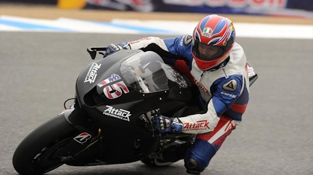 Attack Performance team rider Steve Rapp of USA at Mazda Raceway Laguna Seca in Monterey, California (AFP)