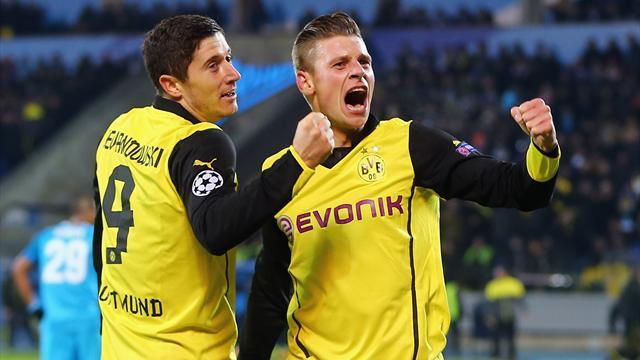 Champions League - Dortmund score four against shambolic Zenit