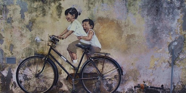 These iconic murals dot Georgetown in Penang