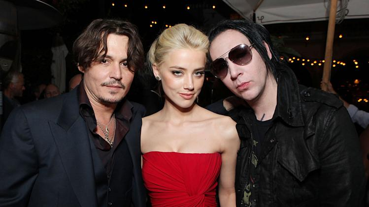 The Rum Diary 2011 LA Premiere Johnny Depp Amber Heard Marilyn Manson