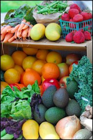 organic fruits veggies
