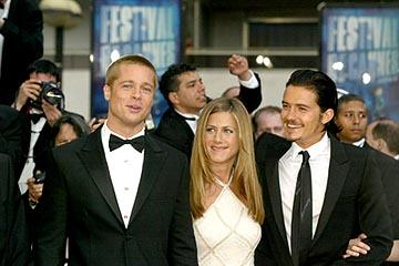 Brad Pitt, Jennifer Aniston and Orlando Bloom Troy Cannes Film Festival - 5/13/2004