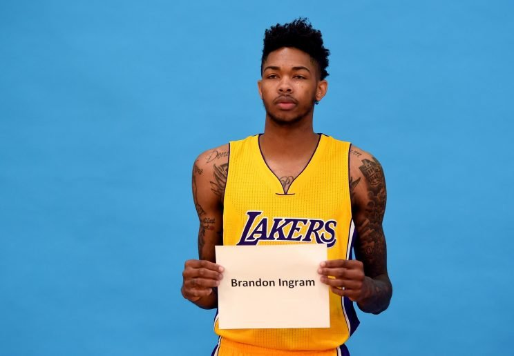Brandon Ingram introduces himself to the world. (Harry How/ Getty)