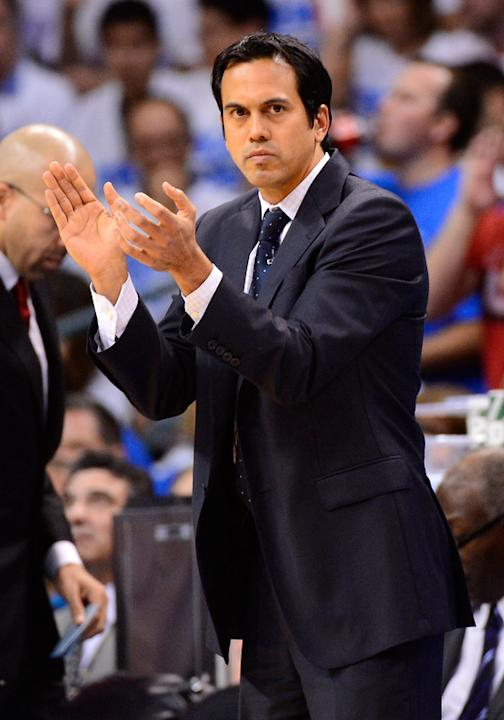 Head Coach Erik Spoelstra Reacts Getty Images
