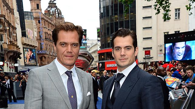 Michael Shannon and Henry Cavill