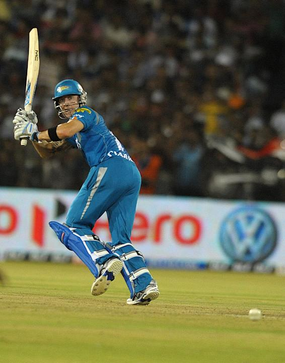 Michael Clarke bats for Pune Warriors India