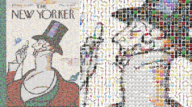 The New Yorker's 'Eustace Tilley' Made With iPhone Emoji Icons (ABC News)