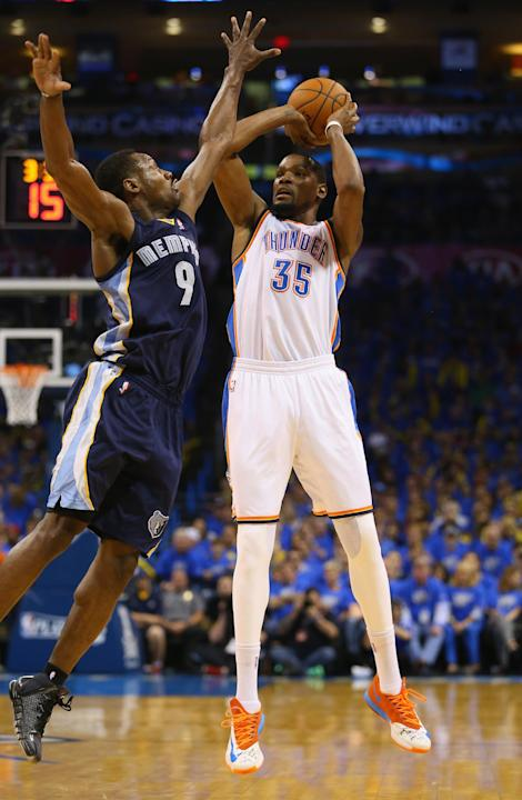 Durant leads Thunder past Grizzlies 100-86