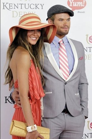 kellan lutz at the kentucky derby