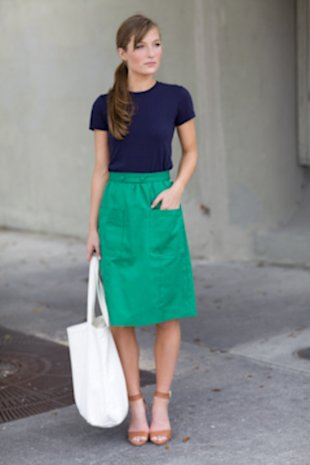 Emerson Fry Green Pocket Skirt