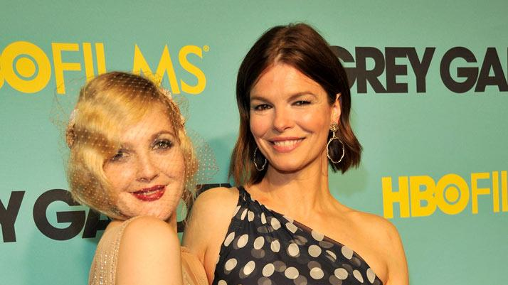 "Drew Barrymore and Jeanne Tripplehorn attend HBO films presents ""Grey Gardens"" New York premiere at the Ziegfeld Theater on April 14, 2009 in New York City."