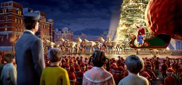 Santa Claus ( Tom Hanks ) in Warner Bros. The Polar Express