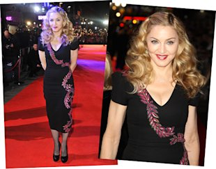 madonna l'wren scott black dress WE premiere london