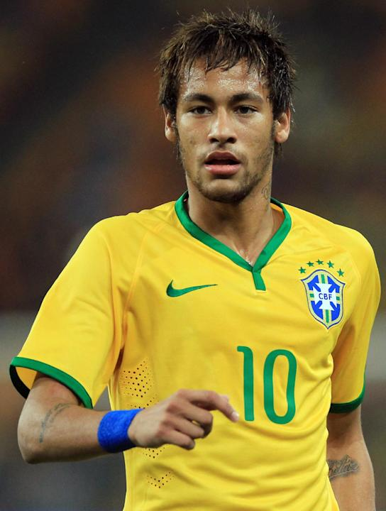 Brazil's Neymar, during their international friendly soccer match against South Africa during their international friendly soccer match at Soccer City Stadium in Johannesburg, South Africa, Wednes