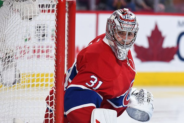 MONTREAL, QC - DECEMBER 16: Look on Montreal Canadiens Goalie Carey Price (31) during the San Jose Sharks versus the Montreal Canadiens game on December 16, 2016, at Bell Centre in Montreal, QC (Photo by David Kirouac/Icon Sportswire via Getty Images)