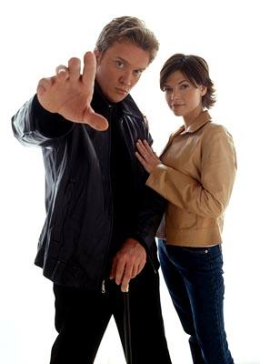 Anthony Michael Hall and Nicole de Boer USA Network's The Dead Zone