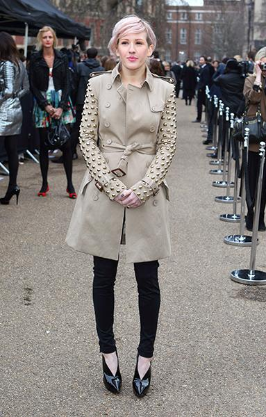 At the Burberry Prorsum F/W 2011 show at London Fashion Week