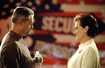 Director Jonathan Demme and Meryl Streep on the set of Paramount's The Manchurian Candidate