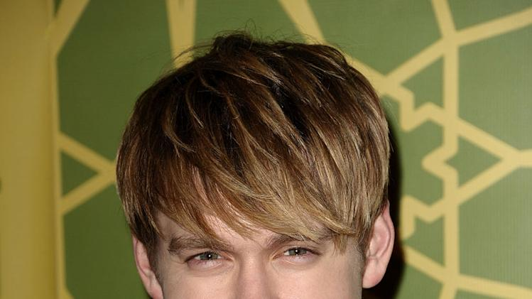 "Chord Overstreet (""Glee"") attends the 2012 Fox Winter TCA All-Star Party at Castle Green on January 8, 2012 in Pasadena, California."