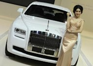 A Rolls-Royce Ghost Deco Art Deco at the Bangkok International Motorshow on March 26, 2013