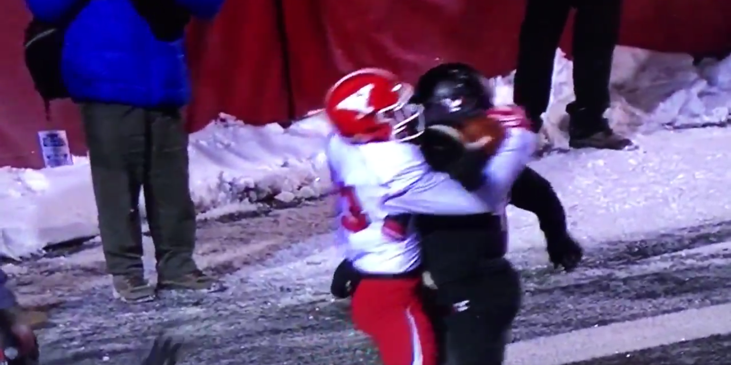 Kevin Rader made this catch to send Youngstown State to Frisco, Texas, on Jan. 7. (ESPN)
