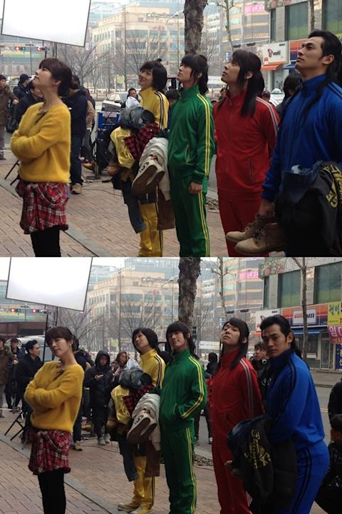Han Jimin disclosed a photo from 'Rooftop Prince' filming set