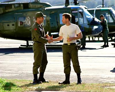 Mel Gibson and Greg Kinnear in Paramount's We Were Soldiers