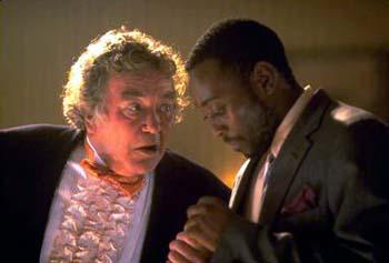 Albert Finney and Omar Epps in Breakfast of Champions