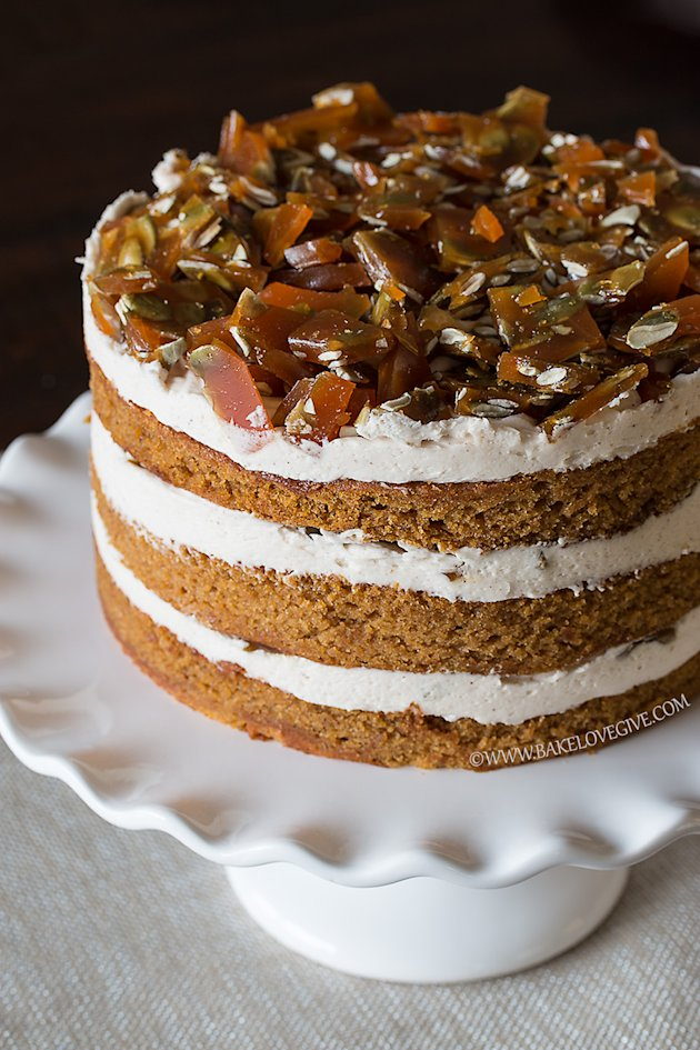 12. Pumpkin Spice Cake With Cinnamon Brown Sugar Cream Cheese Frosting ...