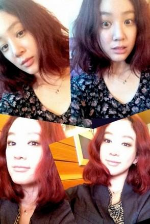 Jung Ryeo Won Shows a Before and After Makeup Shot