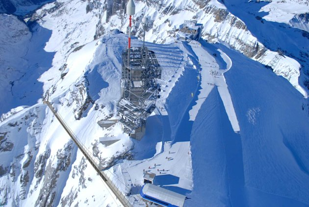 Head for heights: The Titlis Cliff Walk is the highest suspension bridge in Europe (SWNS)