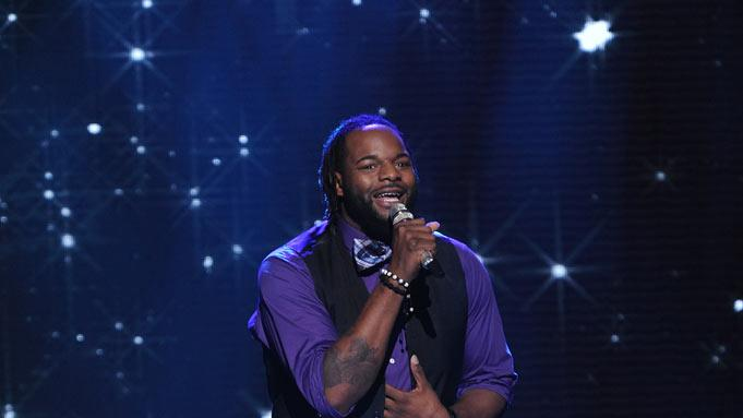"Jermaine Jones performs ""Dance With My Father"" by Luther Vandross on ""American Idol."""