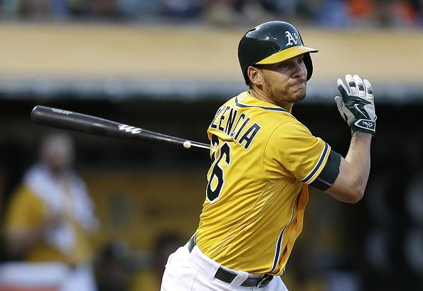 Danny Valencia is headed to Seattle after being traded by the A's. (AP)