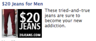 The Anatomy of an Online Purchase image 20Jeans Facebook ad