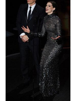 The Tom Ford grey sequin gown