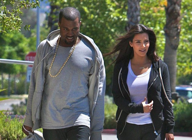 Kim Kardashian dresses down out with Kanye West
