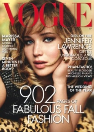 Jennifer Lawrence, Vogue's September issue cover girl