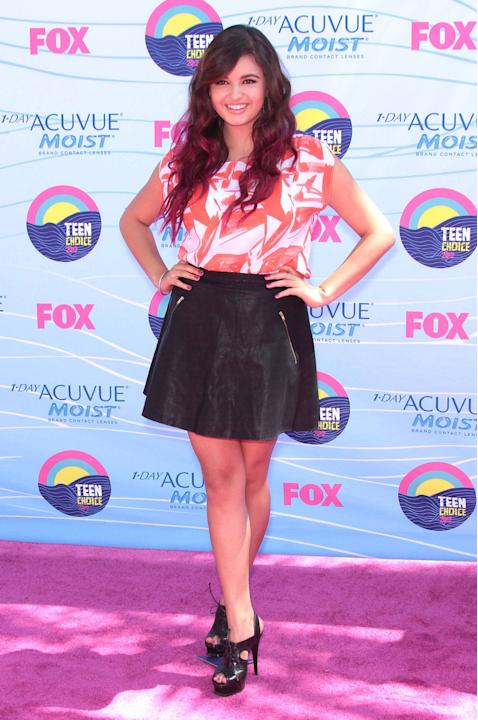 Rebecca Black   at the 2012 Teen Choice Awards held at the Gibson Amphitheatre - Arrivals Universal City, California - 22.07.12 Mandatory Credit: FayesVision/WENN.com
