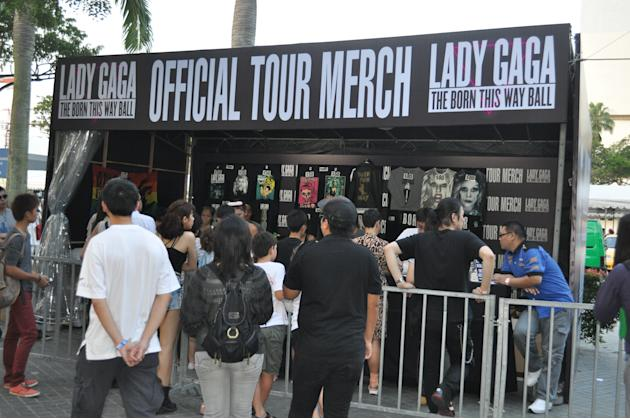 Fans queuing up for merchandise