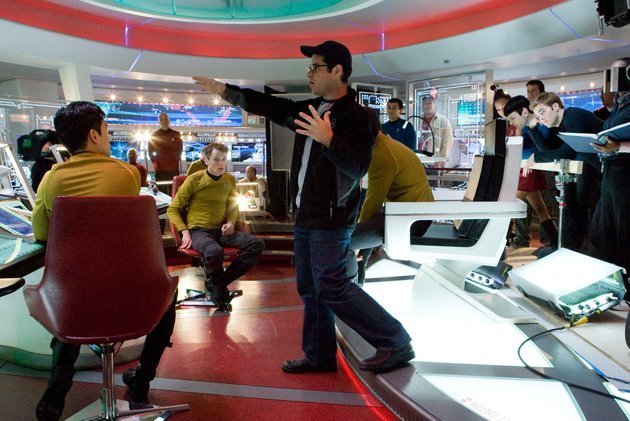 J.J. Abrams, center, on the set of 2009's 'Star Trek'