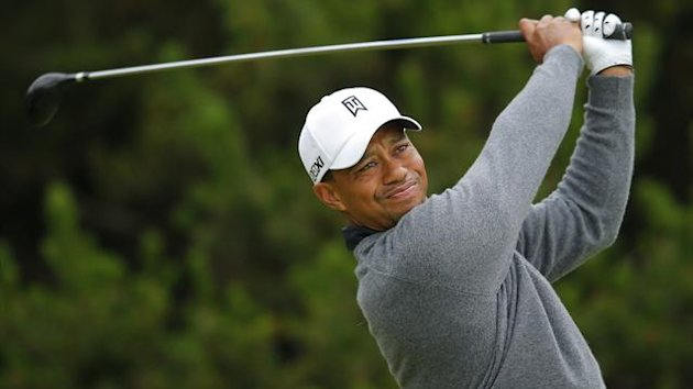 Tiger Woods at Royal Lytham 2012