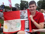 Adam Harris, a teenager who has been inspired by Chris Hadfield for more than a dozen years.