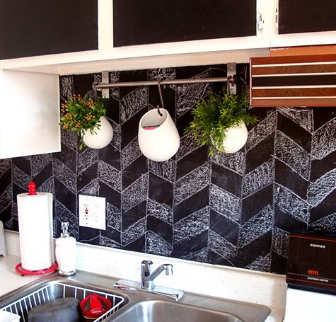 Kitchen Chalkboard Paint Wall