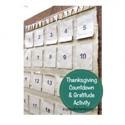 No-Sew Thanksgiving Countdown Calendar