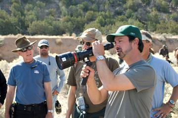 Director James Mangold on the set of Lionsgate Films' 3:10 to Yuma