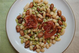 Bean Salad with Pancetta
