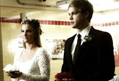Heather Morris and Chord Overstreet | Photo Credits: Ryan Murphy/Twitter